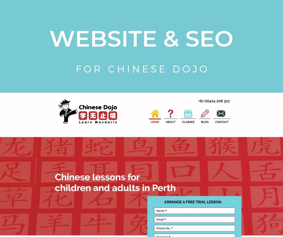 Chinese Dojo SEO and Website