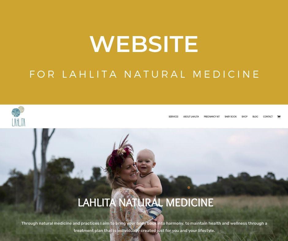 Lahlita Natural Medicine: Website Project