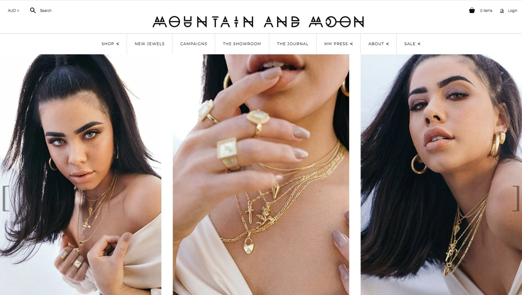 Mountain and Moon website home page